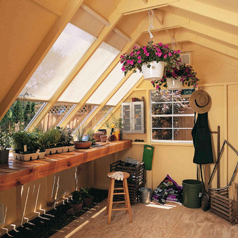 Garden Sheds Greenhouses Combined horizon 10ft. x 8 ft. - heartland industries