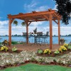 Pergola beautifully crafted with preserved pine.
