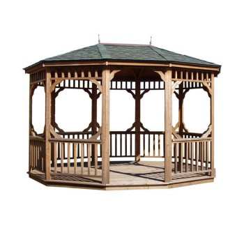 12-ft. x 16-ft. Bayview Oval Gazebo shown with optional floor.