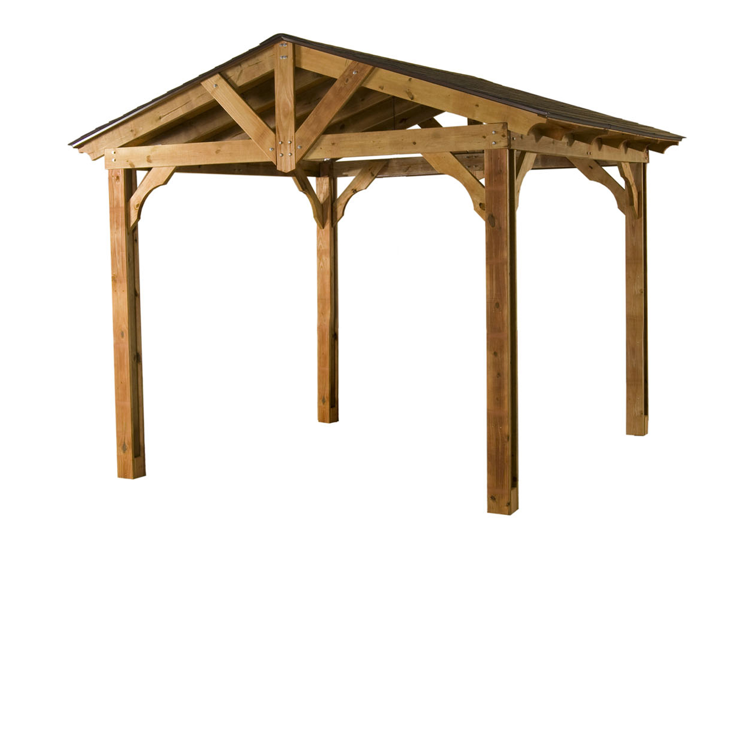 pasadena pavilion heartland industries 10 ft x 12 ft pasadena pavilion crafted factory stained preserved pine