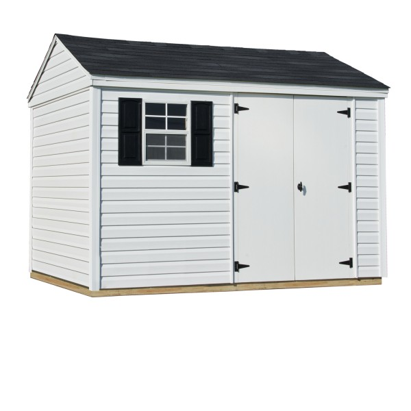 10-ft. x 8-ft. Barrington shown with optional shutters.