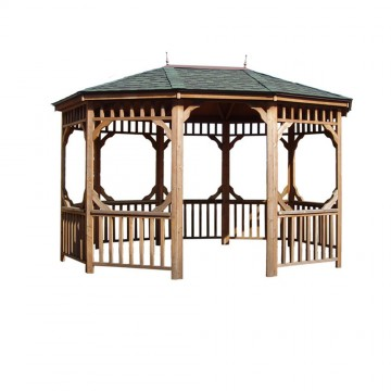 12-ft. x 16-ft. Bayview Oval Gazebo shown.