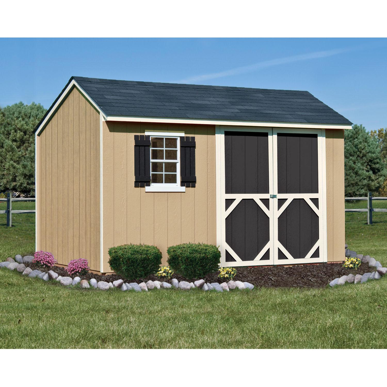 Heartland stratford saltbox engineered wood storage shed for Saltbox storage shed