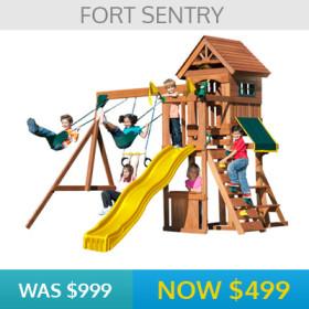 Fort Sentry Play Set Display